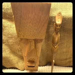 Vintage Hand Carved African Art Idols